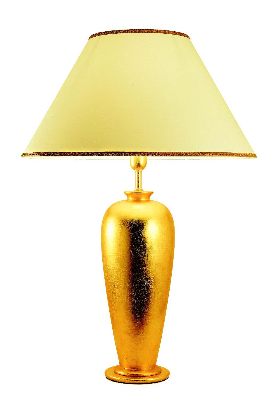 Gold leaf lamp on ceramic Wetar rounded model. Estro.