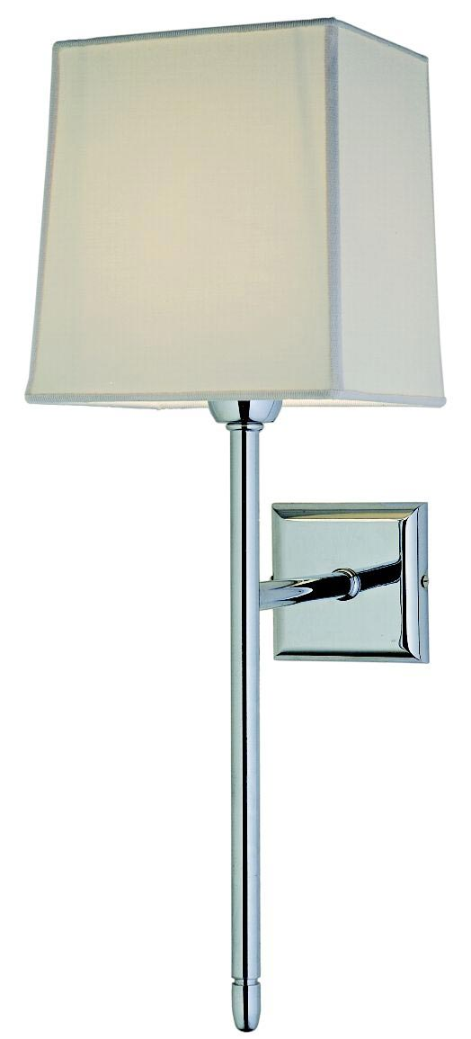 Palace chrome metal torch wall light. Estro.
