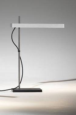 Strip lampe bureau barre ultra-fine aluminium naturel à éclairage LED. f-sign.