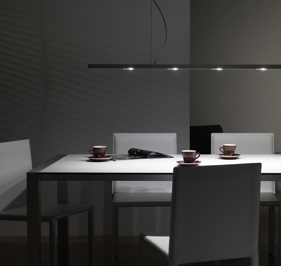 Strip lampe en suspension ultra-fine aluminum naturel 120cm. f-sign.