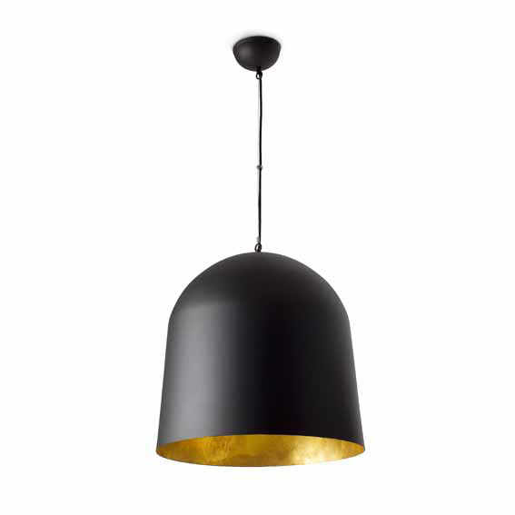 Crater suspension design noire int rieur or faro style design et contem - Suspension noire design ...
