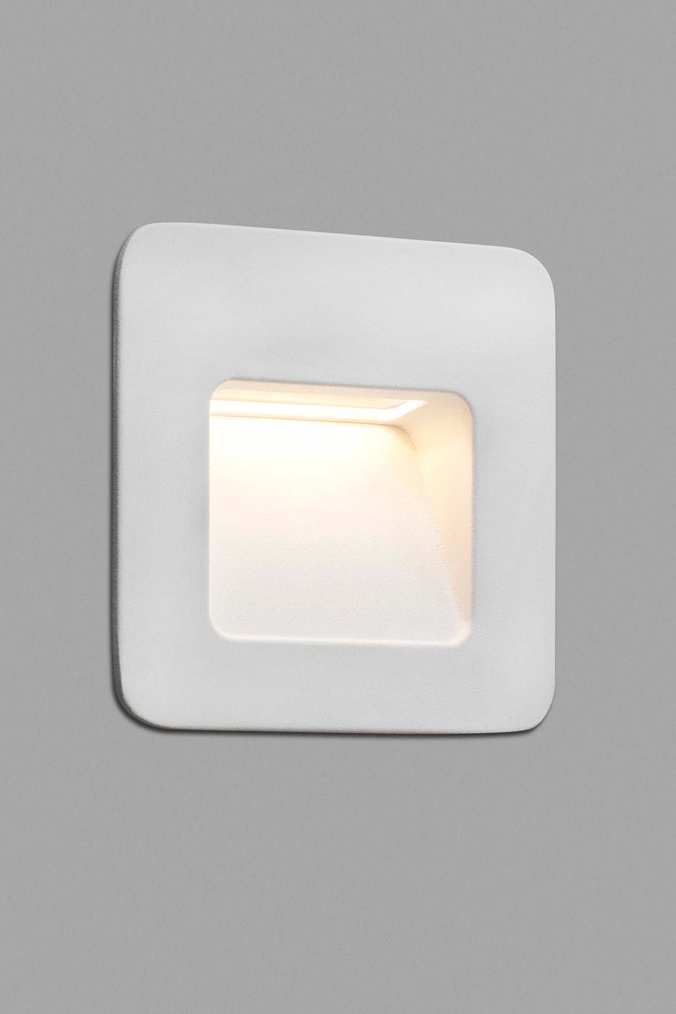 Nase Small White Recessed Outdoor Step Light Faro Ref 19070641