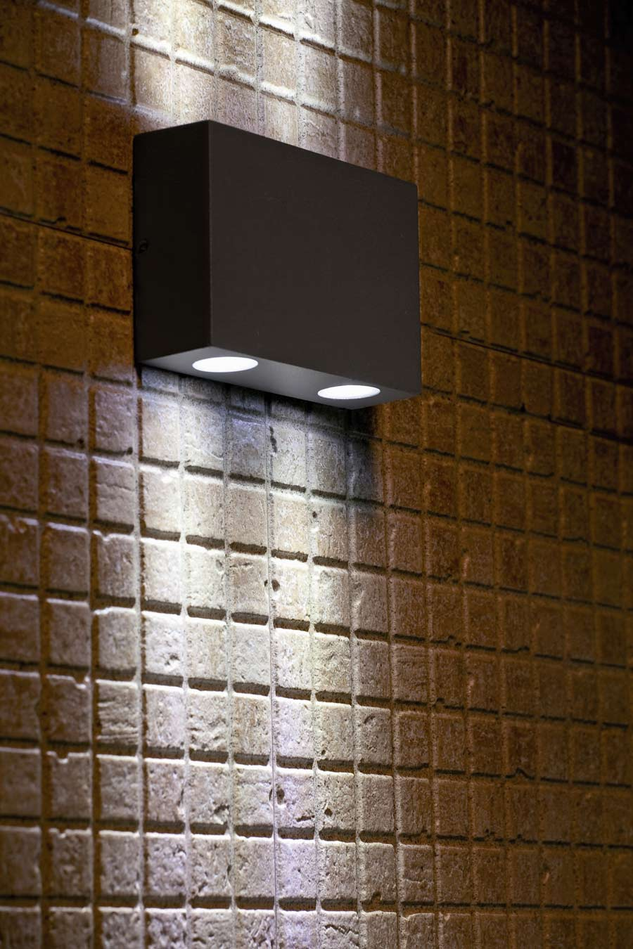 marat 2 grey aluminium miniature exterior led wall light