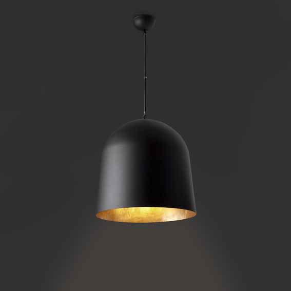 crater suspension design noire int rieur or faro. Black Bedroom Furniture Sets. Home Design Ideas