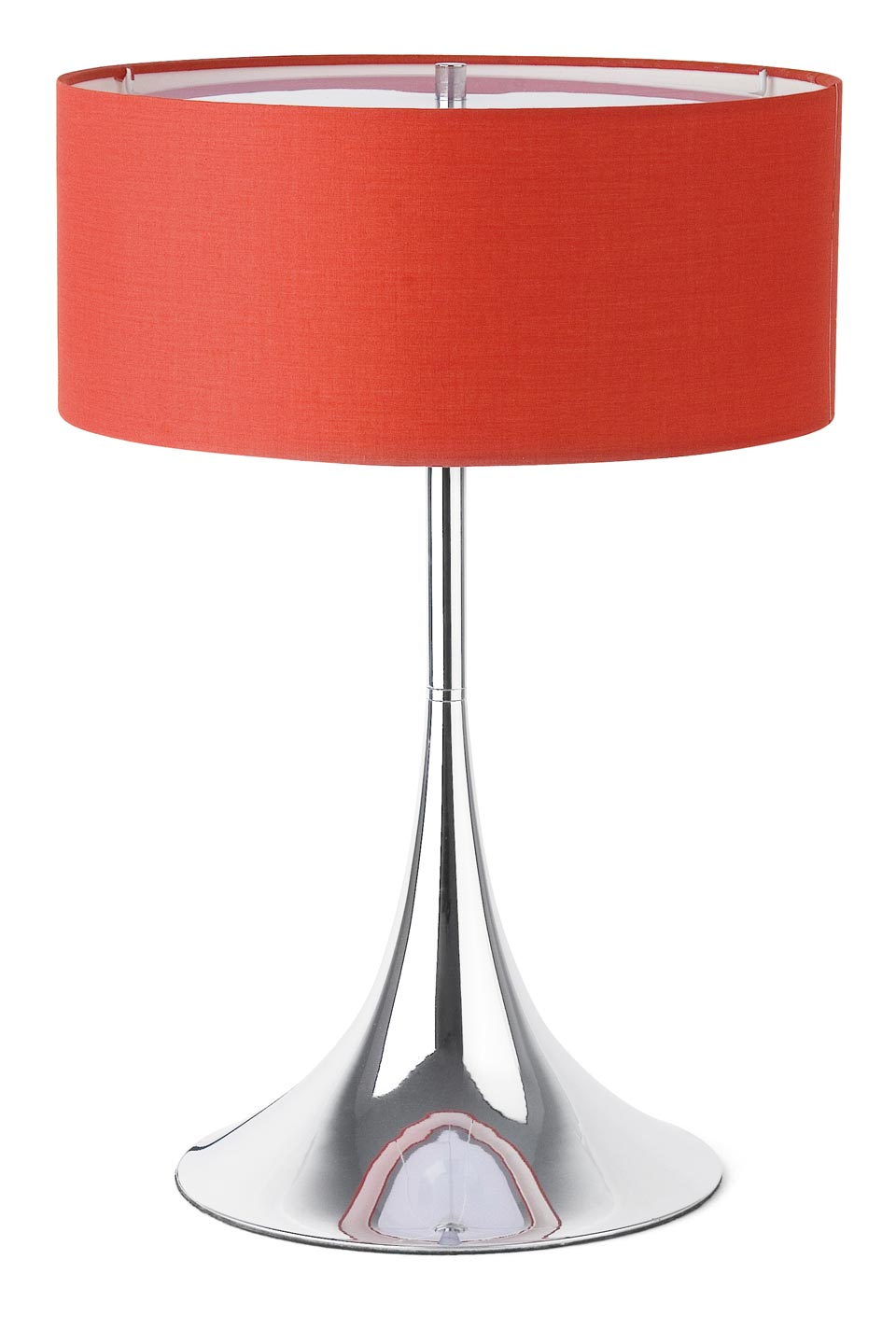 Sixti 60s-style chrome and red fabric table lamp | Faro - Réf ...