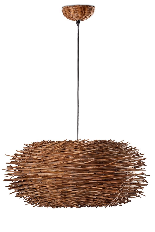 nido suspension ronde en rotin faro style design et. Black Bedroom Furniture Sets. Home Design Ideas