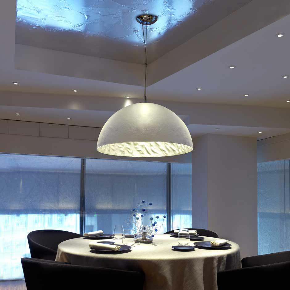 Magma p suspension grand mod le m tal blanc int rieur for Grande suspension luminaire