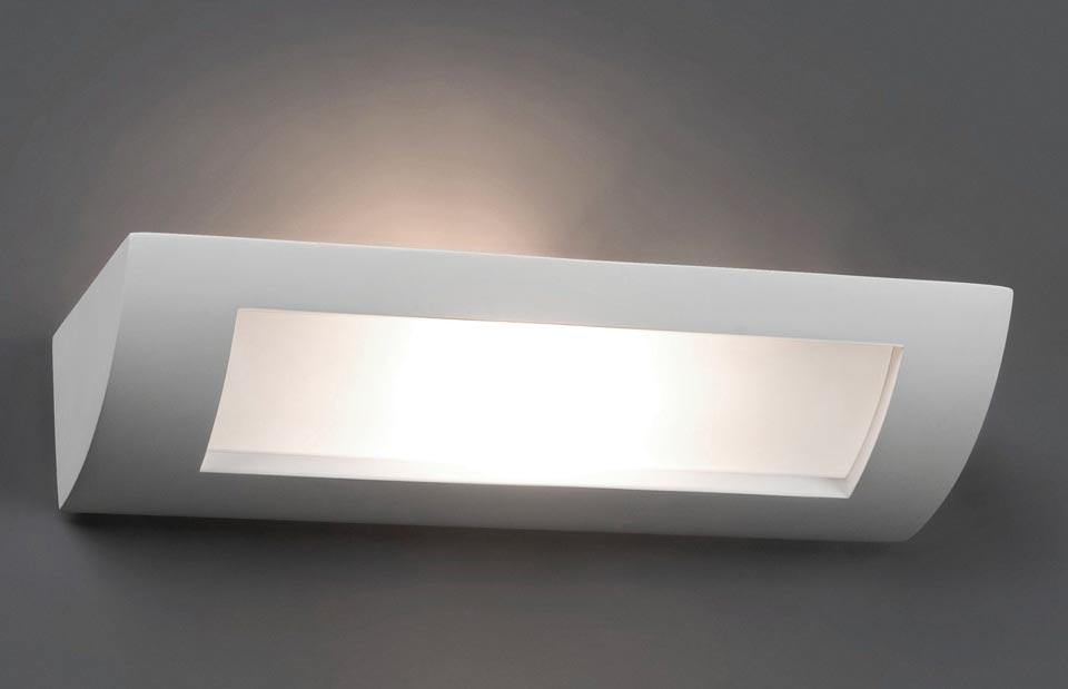 Hera 4 quarter round white plaster wall light faro réf. 11020232