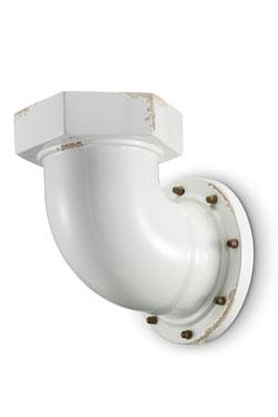 Applique en céramique blanche style industriel. Ferroluce.