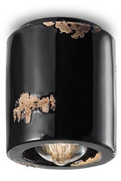 C986 plafonnier Vintage noir. Ferroluce.