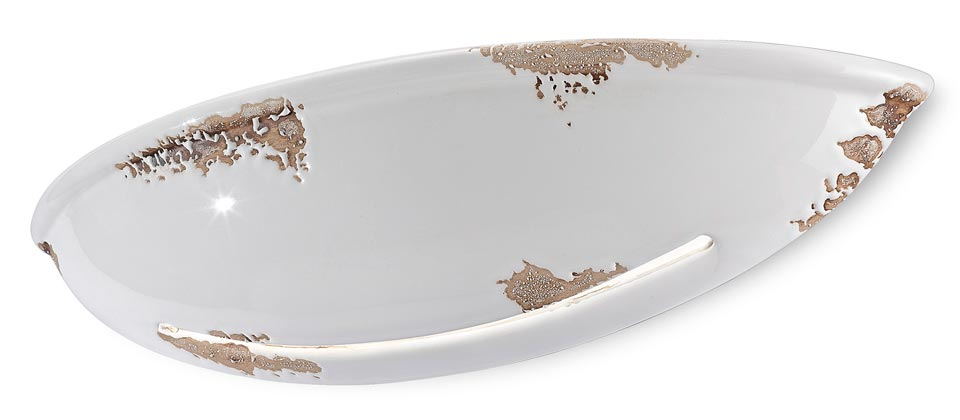 Applique c304 vasque blanche ferroluce luminaires en c ramique et porcelai - Applique porcelaine blanche ...