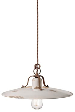 Grunge suspension blanche C1443. Ferroluce.