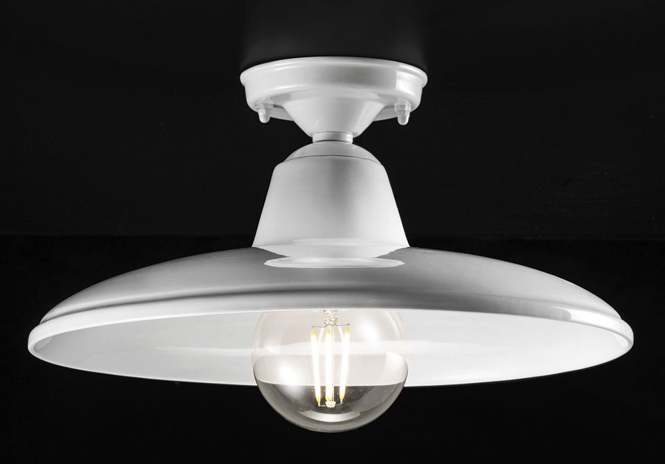 Plafonnier blanc collection black and white ferroluce