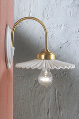 Wall lamp Aquila C012 in white ceramic. Ferroluce.