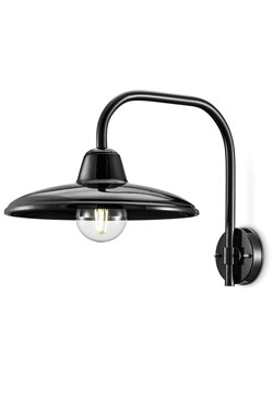 Large black ceramic wall light in retro style. Ferroluce.