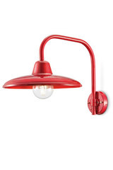 Large bright red wall light Black and White collection. Ferroluce.