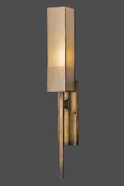 Applique bronze naturel et soie Perspectives. Fine Art Lamps.