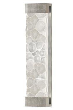 Applique cristal massif en galets décorée à la feuille d'argent 76cm. Fine Art Lamps.