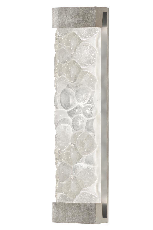 Applique cristal massif en galets décorée à la feuille d