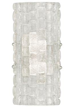 Applique en cristal demi-cylindre Constructivism. Fine Art Lamps.