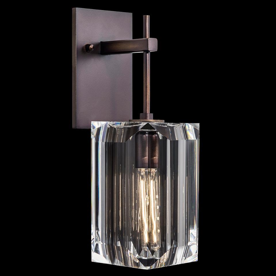 Applique en cristal et bronze patiné Monceau. Fine Art Lamps.