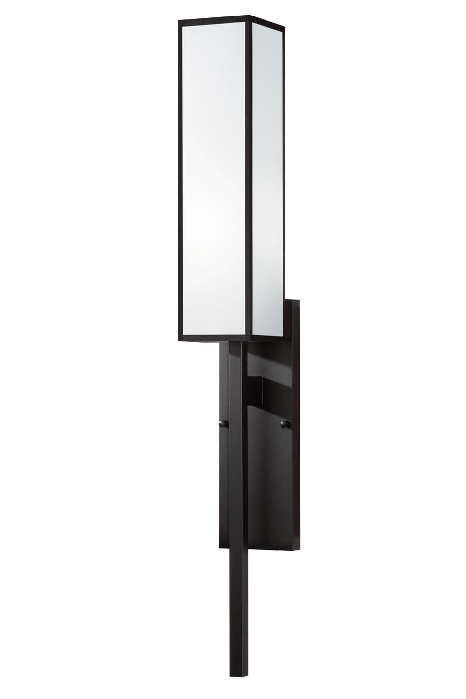 Black + White Story applique métal noir et satin blanc. Fine Art Lamps.