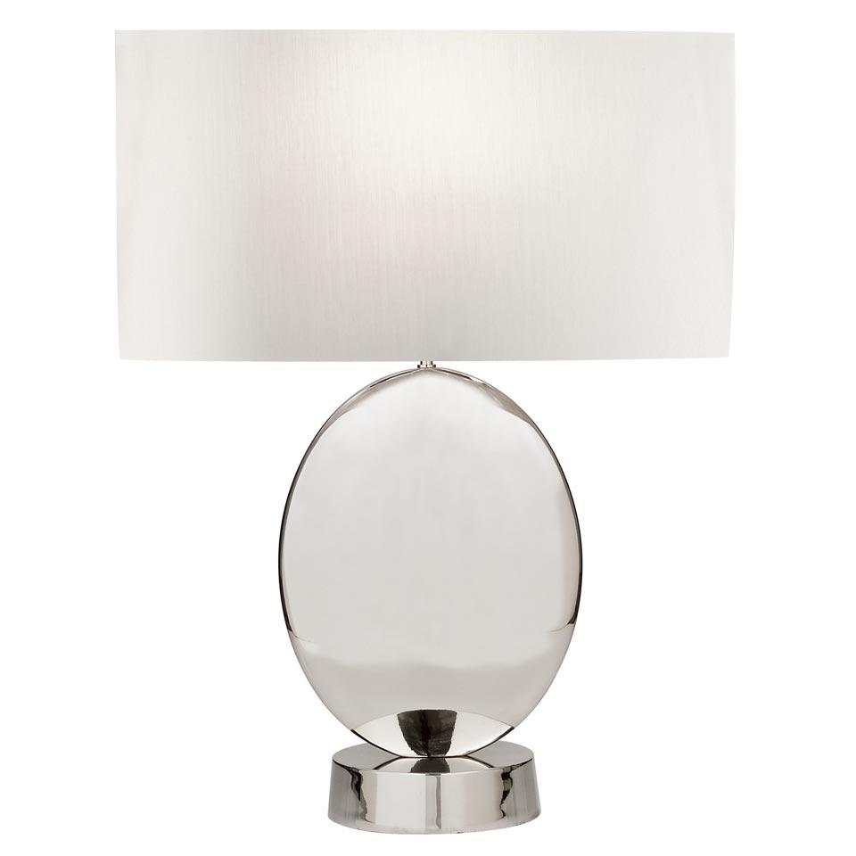 Lampe de table Grosvenor Square nickel . Fine Art Lamps.