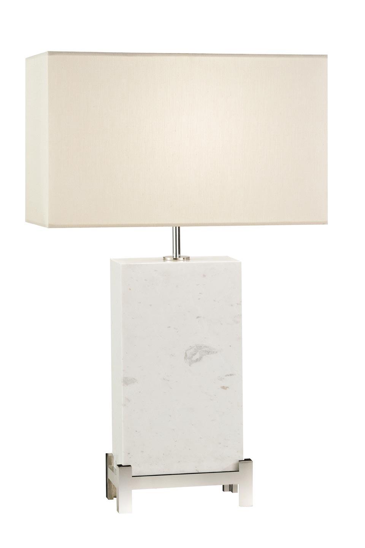 Lampe en marble blanc massif. Fine Art Lamps.