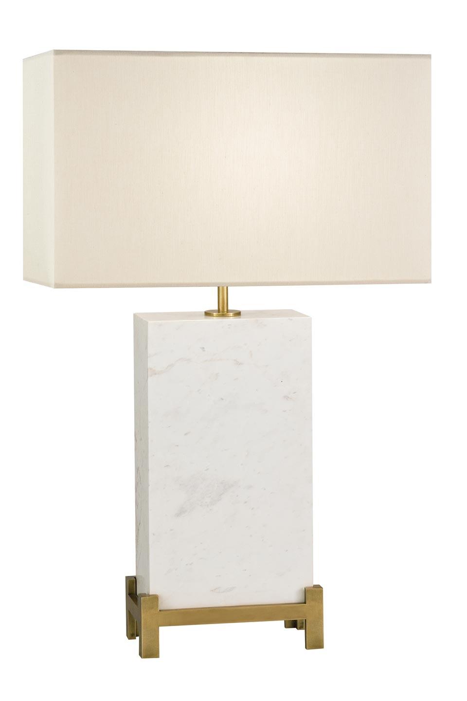 Lampe en marble blanc massif et bronze naturel. Fine Art Lamps.