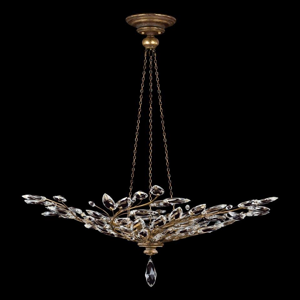 lustre cristal en bouquet de branchages vieil or collection crystal laurel fine art lamps. Black Bedroom Furniture Sets. Home Design Ideas