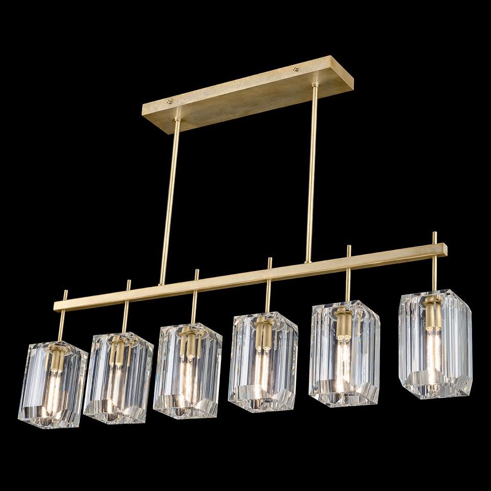 Lustre six lumières et métal doré Monceau. Fine Art Lamps.