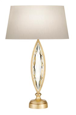 Marquise lampe de table forme de feuille. Fine Art Lamps.
