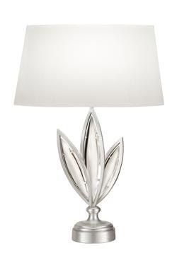 Marquise lampe de table trois feuilles à droite. Fine Art Lamps.