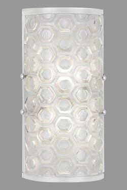 Petite applique demi-cylindre et LED Hexagons. Fine Art Lamps.