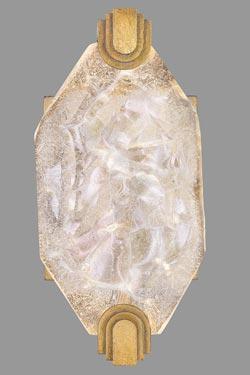 Petite applique doré, éclairage LED par  Allison Paladino. Fine Art Lamps.
