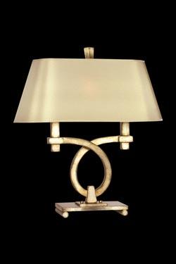 Portobello Road lampe en boucle décorée à la feuille d'argent. Fine Art Lamps.