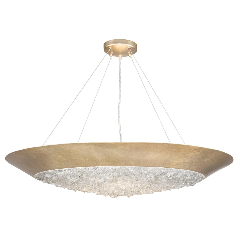 Suspension doré forme vasque  Arctic Halo. Fine Art Lamps.