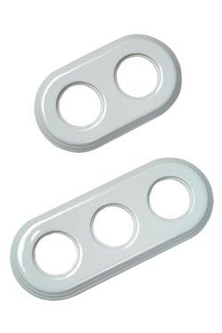 Encadrement en porcelaine blanche pour interrupteurs Garby Colonial encastrés - 2 positions. Fontini.
