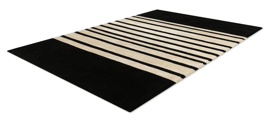 tapis noire et blanc maison design. Black Bedroom Furniture Sets. Home Design Ideas