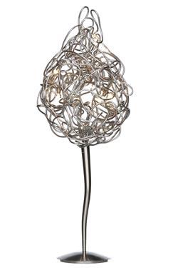 Carrot lampe de table en fil de métal. Harco Loor.
