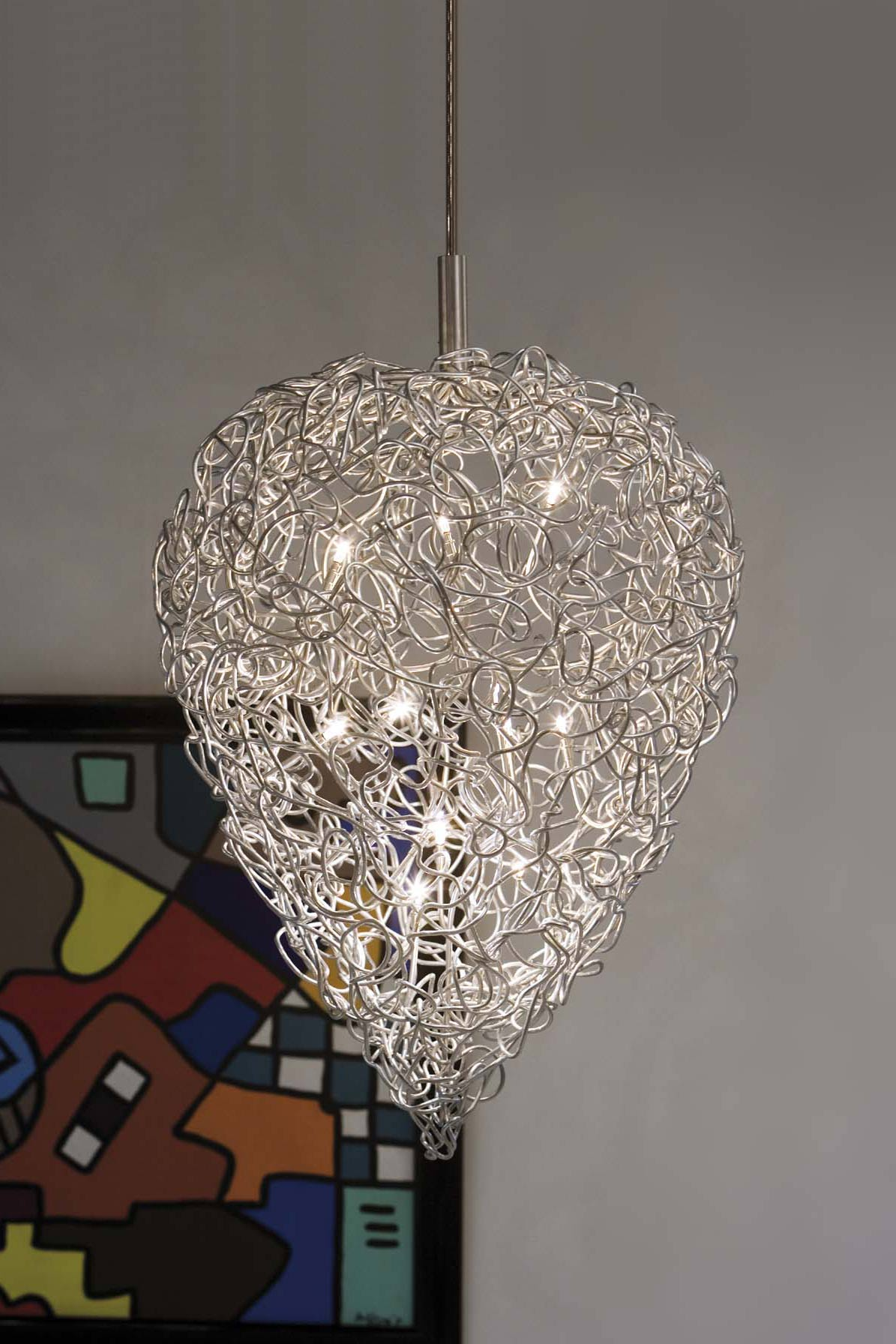 carrot suspension design en fil de m tal harco loor luminaires en verre et cristal r f. Black Bedroom Furniture Sets. Home Design Ideas