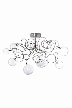 Bubbles 12-light clear ceiling light. Harco Loor.