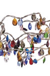 Tiara multicoloured 15-light oval ceiling light . Harco Loor.