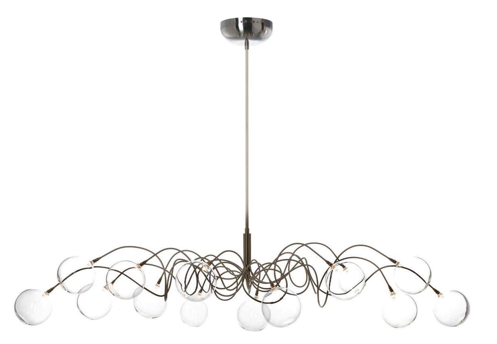 Big Bubbles 14-light oval glass ball chandelier. Harco Loor.