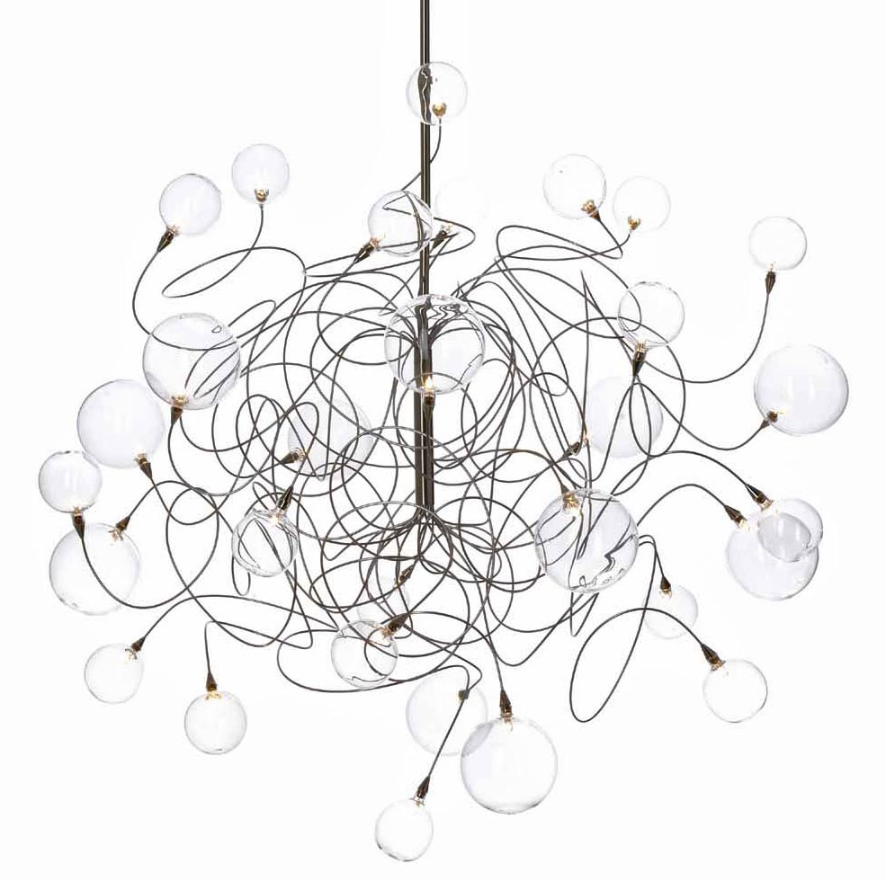 Bubbles Double 30-light chandelier. Harco Loor.