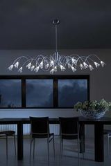 Flag oval 20-light chandelier with glass flowers. Harco Loor.
