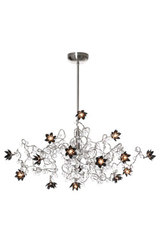 Jewel Diamond 15-light chandelier in clear and black glass. Harco Loor.