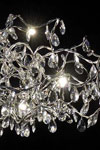 Tiara 24-light oval chandelier in clear cut glass. Harco Loor.