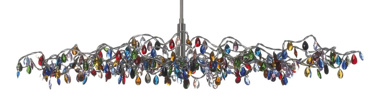 Tiara 15 light oval chandelier in multicoloured glass harco loor tiara 15 light oval chandelier in multicoloured glass harco loor aloadofball
