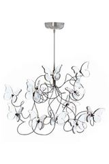 Papillon 12-light chandelier in clear glass . Harco Loor.